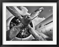Vintage Aircraft Propeller Framed Print