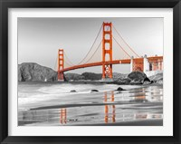 Framed Baker Beach and Golden Gate Bridge, San Francisco 1
