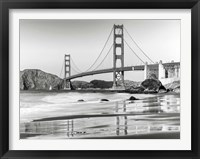 Framed Baker Beach and Golden Gate Bridge, San Francisco 2