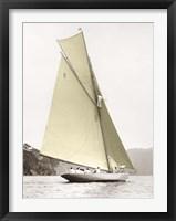 Framed Vintage yacht