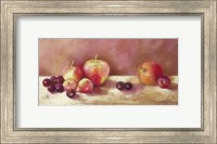 Framed Cherries and Apples (detail)