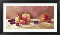 Framed Cherries and Apples (detail)