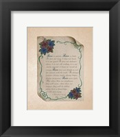 Framed Corinthians 13:4-8 Love is Patient - Rose Border Beige