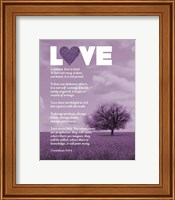 Framed Corinthians 13:4-8 Love is Patient - Lavender Field