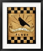 Framed Old Crow Flour