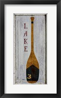 Framed Lake Oar