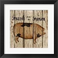 Farm Fresh Pork Framed Print