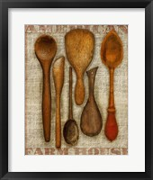 Framed Wooden Spoons High