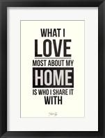 My Home Framed Print