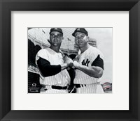 Framed Mickey Mantle & Roger Maris Posed