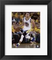 Framed Stephen Curry 2016 NBA Playoff Action