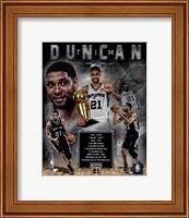 Framed Tim Duncan Legends Composite