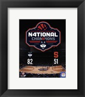 Framed University of Connecticut Huskies 2016 NCAA Women's College Basketball National Champions Composite