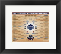 Framed Villanova Wildcats 2016 NCAA Men's Basketball National Champions Bracket