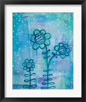 Framed Magical Flowers I