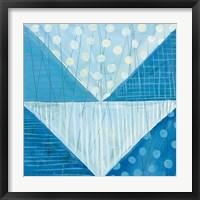Modern Americana IX Blue Framed Print