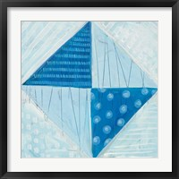 Modern Americana VI Blue Framed Print