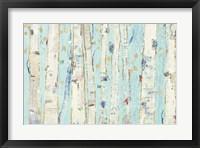 Framed Far From Blue III Gold Leaves