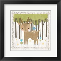Framed Woodland Hideaway Deer