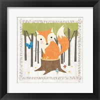 Framed Woodland Hideaway Fox