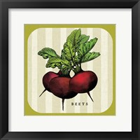 Framed Linen Vegetable I