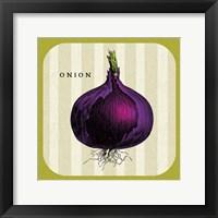 Linen Vegetable III Framed Print