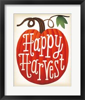 Harvest Time Happy Harvest Pumpkins Framed Print
