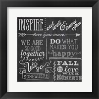 Inspiration Chalkboard III Framed Print