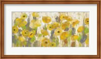 Framed Floating Yellow Flowers I