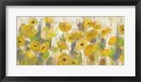Framed Floating Yellow Flowers I
