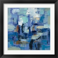 Framed Ultramarine Waves II