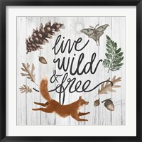 Framed Live Wild and Free