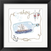 Ship in a Bottle Ahoy Framed Print