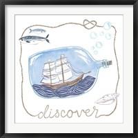 Framed Ship in a Bottle Discover