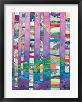 Multicolored Birch Tree II Framed Print