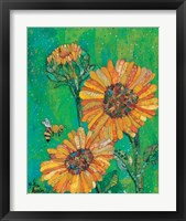 Framed Sunflowers and Bee