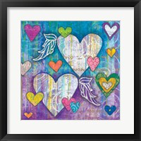 Winged Hearts Framed Print