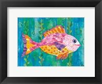 Polka Dot Fish Framed Print