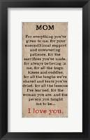 Framed Mom I Love You 4