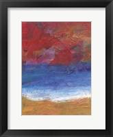 Framed Fiery Coast