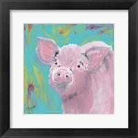 Farm Life Pig Framed Print
