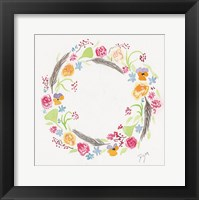 Wildflower Wreath 2 Framed Print