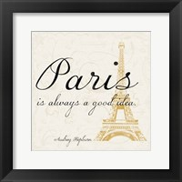 Paris Square 2 Framed Print