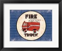 Framed Fire Truck Blues