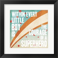 Superhero Power Framed Print