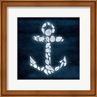 Framed Shell Anchor Deeper Blue