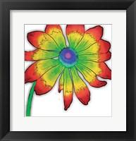 Bright Fun Time Flower Mate Framed Print