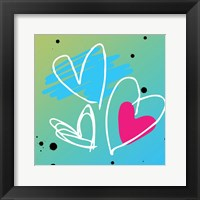 Love is bright Framed Print