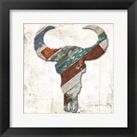 Wooden Bull Head Framed Print