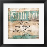 I Am God Framed Print